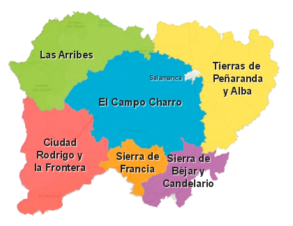 Provincia De Salamanca Mapa.Asi Es Salamanca Salamanca Emocion