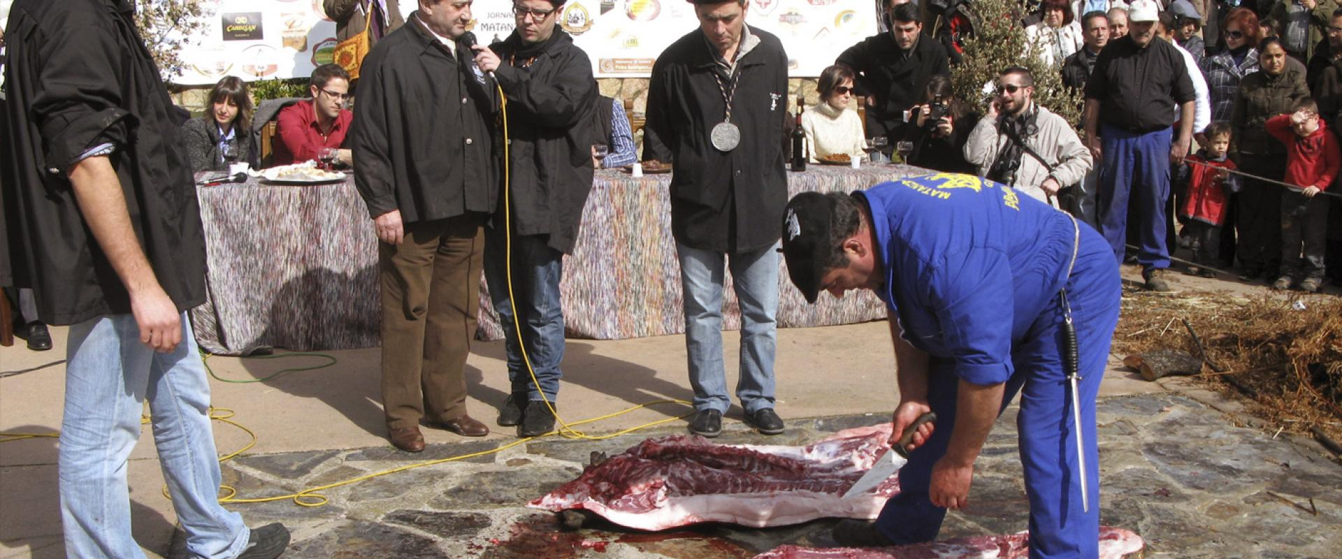 The typical slaughter of pig in Guijuelo